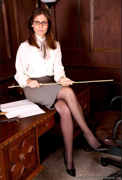 mistress caning punishment school demons stern in the study caning school