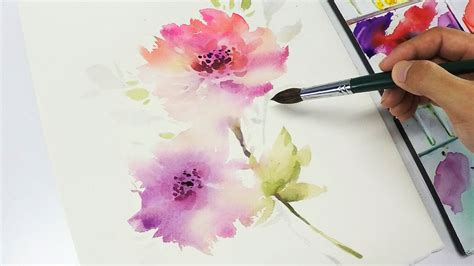 water color flowers lvl3 watercolor flower painting into