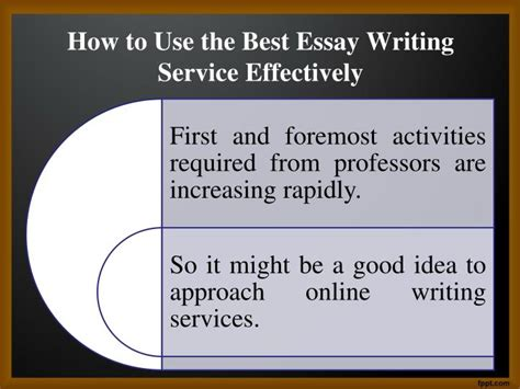 Best Essay Writing Services by Ppt How Effectively Use An Essay Writing Service Powerpoint Presentation Id 7285254
