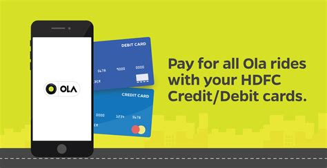 make payment for hdfc credit card use your hdfc credit debit cards to pay for your ola rides