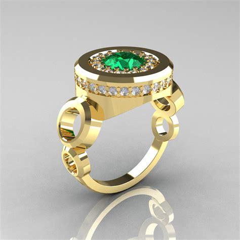 modern 10k yellow gold 1 0 carat emerald designer