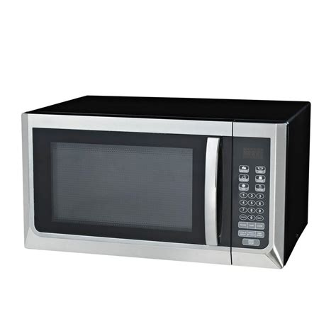 oster 1 1 cu ft countertop microwave oven in stainless