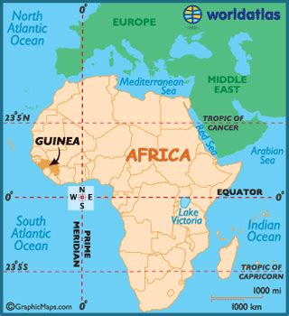 guinea map / geography of guinea / map of guinea