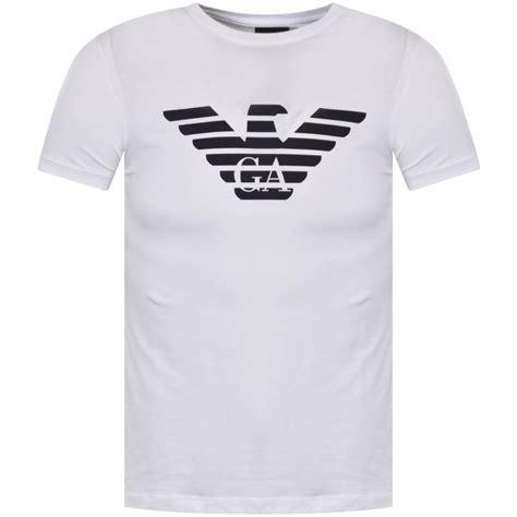 Tshirt Giorgio Armani Dealldo Merch emporio armani emporio armani eagle logo t shirt in white from brother2brother uk