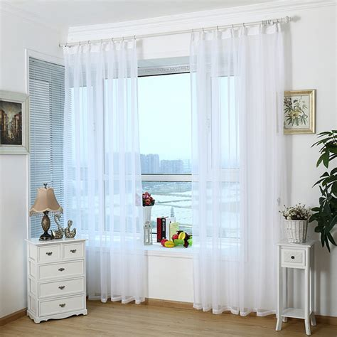 aliexpress buy modern home white tulle curtains
