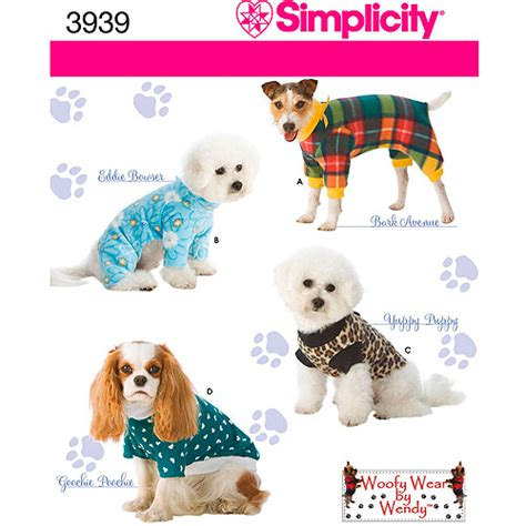 pattern pet clothes simplicity pattern dog clothes in 3 sizes s m l