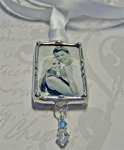 Wedding Bouquet Picture Charm by Wedding Bouquet Charm Photo Pendant Bridal Keepsake