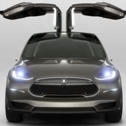 Electric Car Tesla Model X Tesla Model X Revealed Electric Car Gets Falcon Wing
