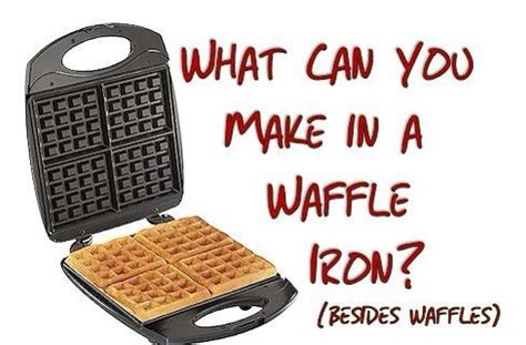 25 things to make with a waffle iron yum musely