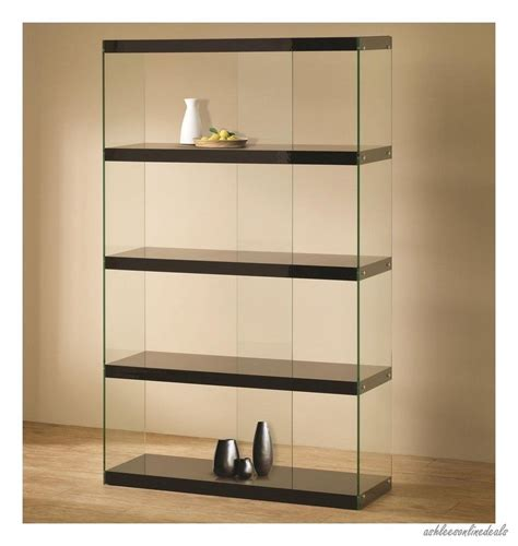 Living Room Display Furniture New Black Glass Curio Furniture Display Cabinet Living Room Furniture Shelf For Those
