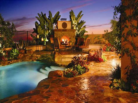 ideas cool landscaping ideas for pools with ethnic design cool landscaping ideas for pools