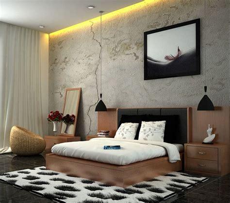 Bedroom Ideas Edgy Edgy And Cool Bedroom Interior Decor Ideas White Brown