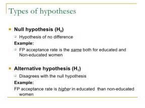 null hypothesis exle alisen berde