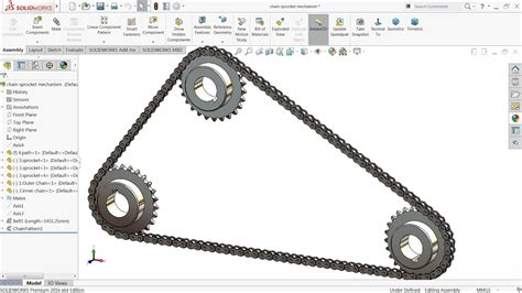 solidworks tutorial chain solidworks tutorial sketch chain and sprocket mechanism