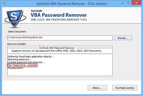 reset vba password access vba password remover software to reset break vba project