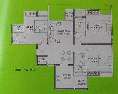 3 bhk apartment floor plan residential apartments in gift city for sale price 4500