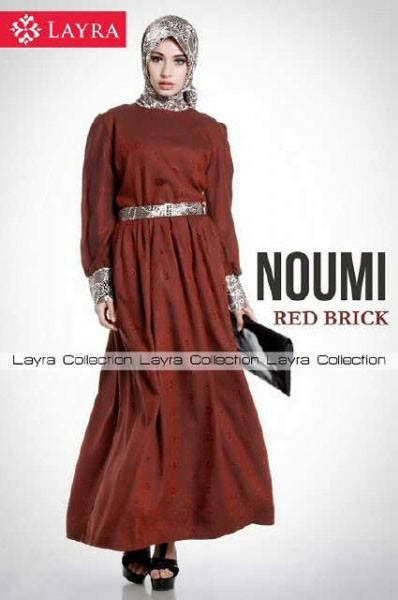 Arina Syar I Purple new noumi brick baju muslim gamis modern