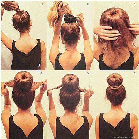 buns hairstyles how to how to make a perfect bun hairstyles picture