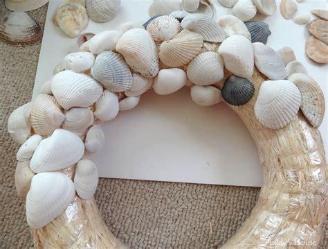Seashell Bathroom Decor Ideas diy seashell wreath puddy s house