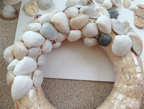 Diy seashell wreath puddy s house