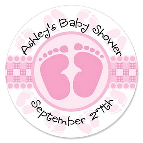 Sticker Labels For Baby Shower Favors by Baby Pink Personalized Baby Shower Sticker Labels
