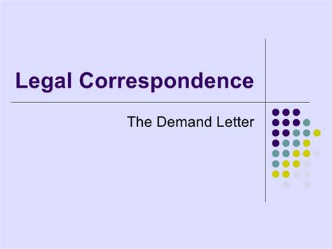 Demand Letter Login Correspondence The Demand Letter