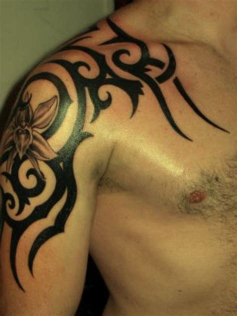 mens tribal shoulder tattoo tattoos for on arm ideas