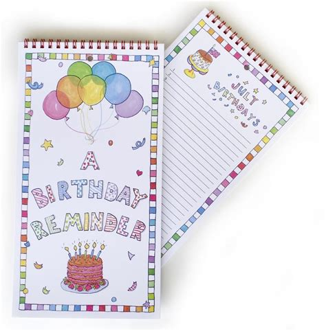 birthday reminder calendar free template calendar