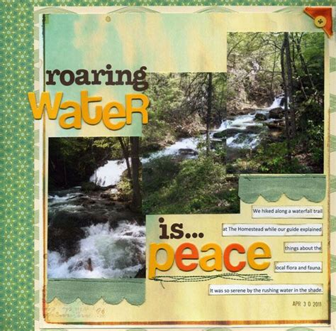 scrapbook layout waterfalls 402 best layouts cing hiking fishing images on