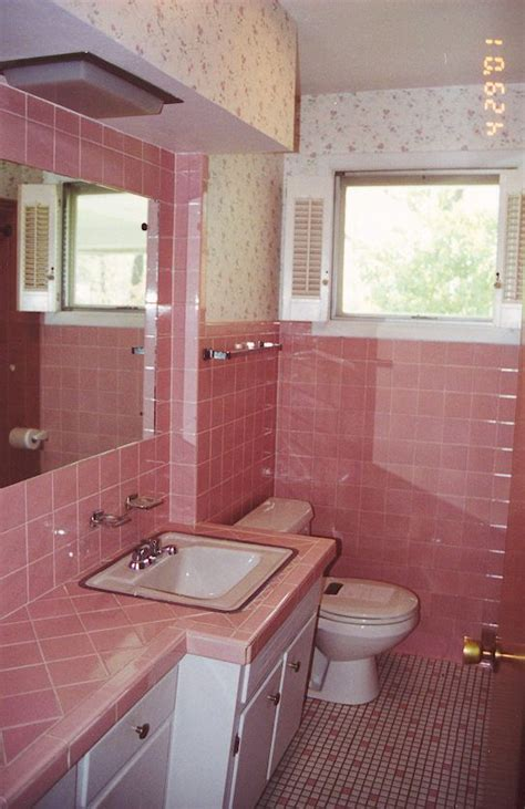 pink tile painted bathroom tile dream home pink