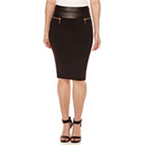 misses size black skirts for jcpenney