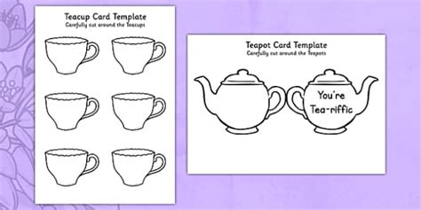tea bag card template s day teapot quot you re tea riffic quot card craft mothers