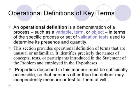 where does the thesis go in a research paper where do operational definitions go in a research paper