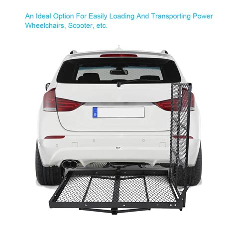folding power wheelchair scooter carrier folding strong electric wheelchair hitch carrier mobility