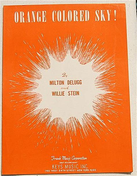 orange colored sky 1950 vintage sheet quot orange colored sky quot from