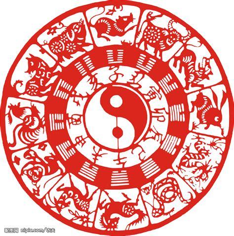 new year animals 2007 十二生肖八卦图矢量图 传统文化 文化艺术 矢量图库 昵图网nipic