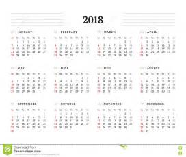 Calendar 2018 Year To View Calendar For 2018 Year Printable Calendar 2017 2018