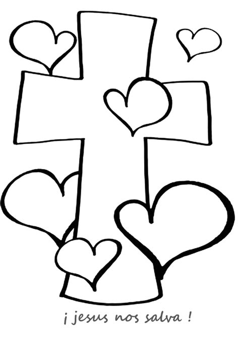 dibujos para colorear de la cruz dibujos de la cruz imagui