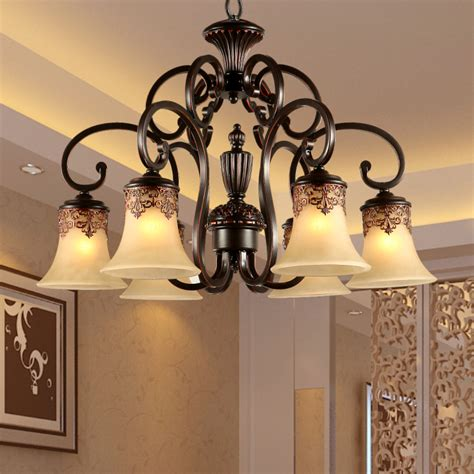 Cheap Led Chandeliers Aliexpress Buy Fashion Iron Ls Resin Lighting Glass Shade Cheap Chandelier Light Led