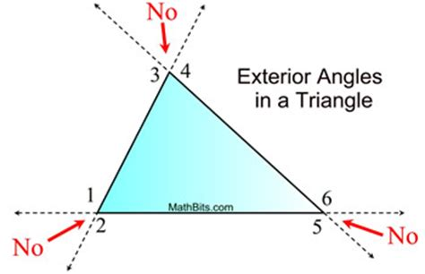exterior angles in a triangle mathbitsnotebook (geo
