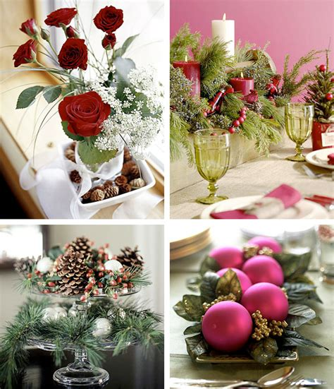 christmas table decorations 50 great easy christmas centerpiece ideas digsdigs