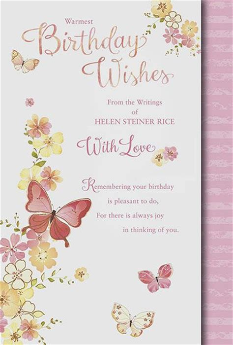 Butterfly Birthday Card Template by Helen Steiner Rice Greeting Cards Butterfly Birthday