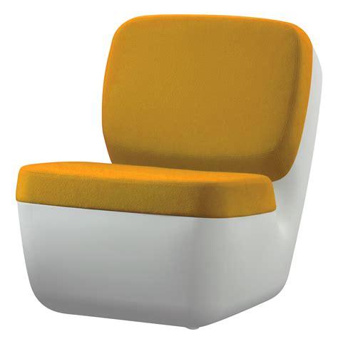 fauteuil jaune 547 fauteuil bas nimrod rembourr 233 blanc jaune magis