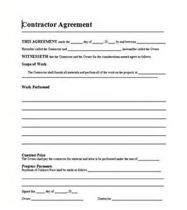 This is a professional looking contract template written using ms word