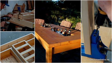 Patio Table Diy How To Build A Wood Patio Table Modern Patio Outdoor