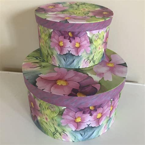 decorative hat boxes 2 decorative hat boxes pastel box michaels hobby lobby