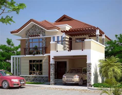 French Chateau Homes by Fetching Double Storey House Design Home Design
