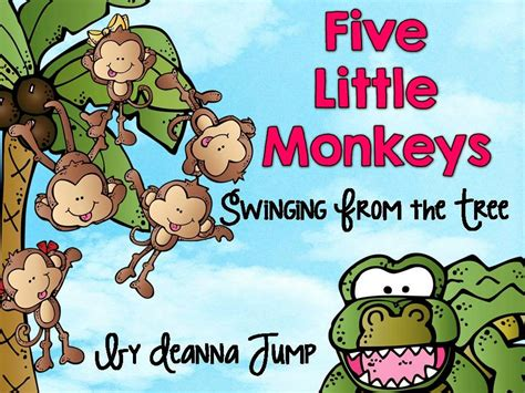 five monkeys swinging from a tree mrs jump s class five little monkeys units coming soon