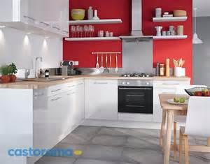 Charming Petite Cuisine Avec Bar #8: Decoration-cuisine-moderne-rouge-blanc1.jpg