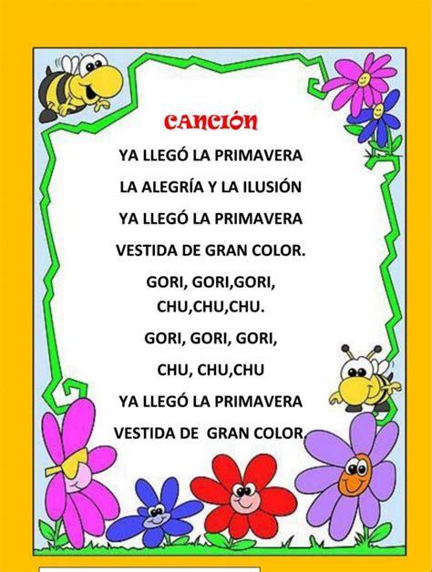 poema para un cantante poemas infantiles de primavera para descargar gratis